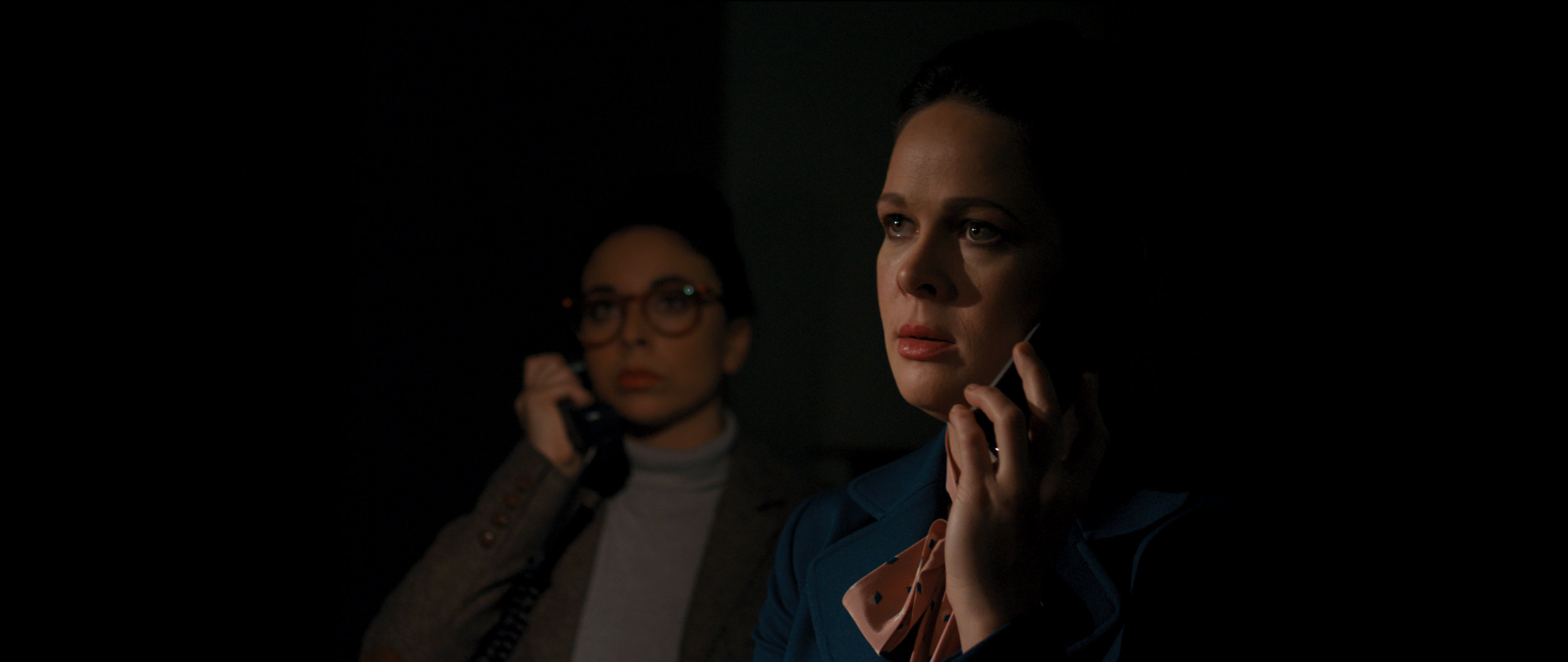 Dim the Fluorescents - Audrey (Claire Armstrong) and Lillian (Naomi Skwarna) give an unsuspecting boardroom audience a powerful lesson in  How to Handle a Dissatisfied Customer .