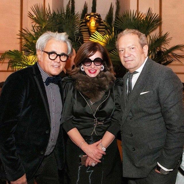 Mila with Giuseppe Zanotti and Ermanno Scervino