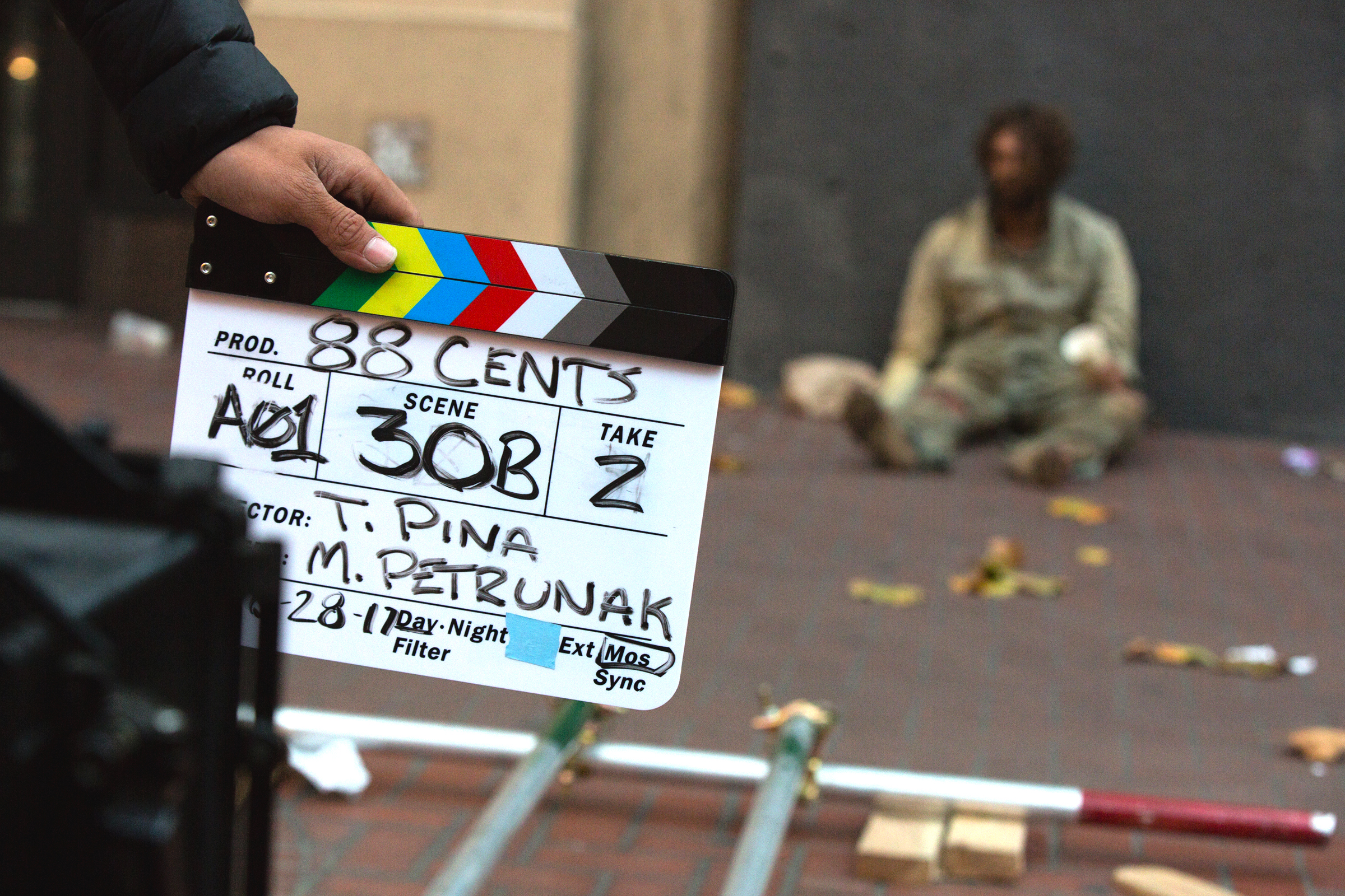 First day of filming 88 Cents after a closing down a section of Market Street in San Francisco, CA.