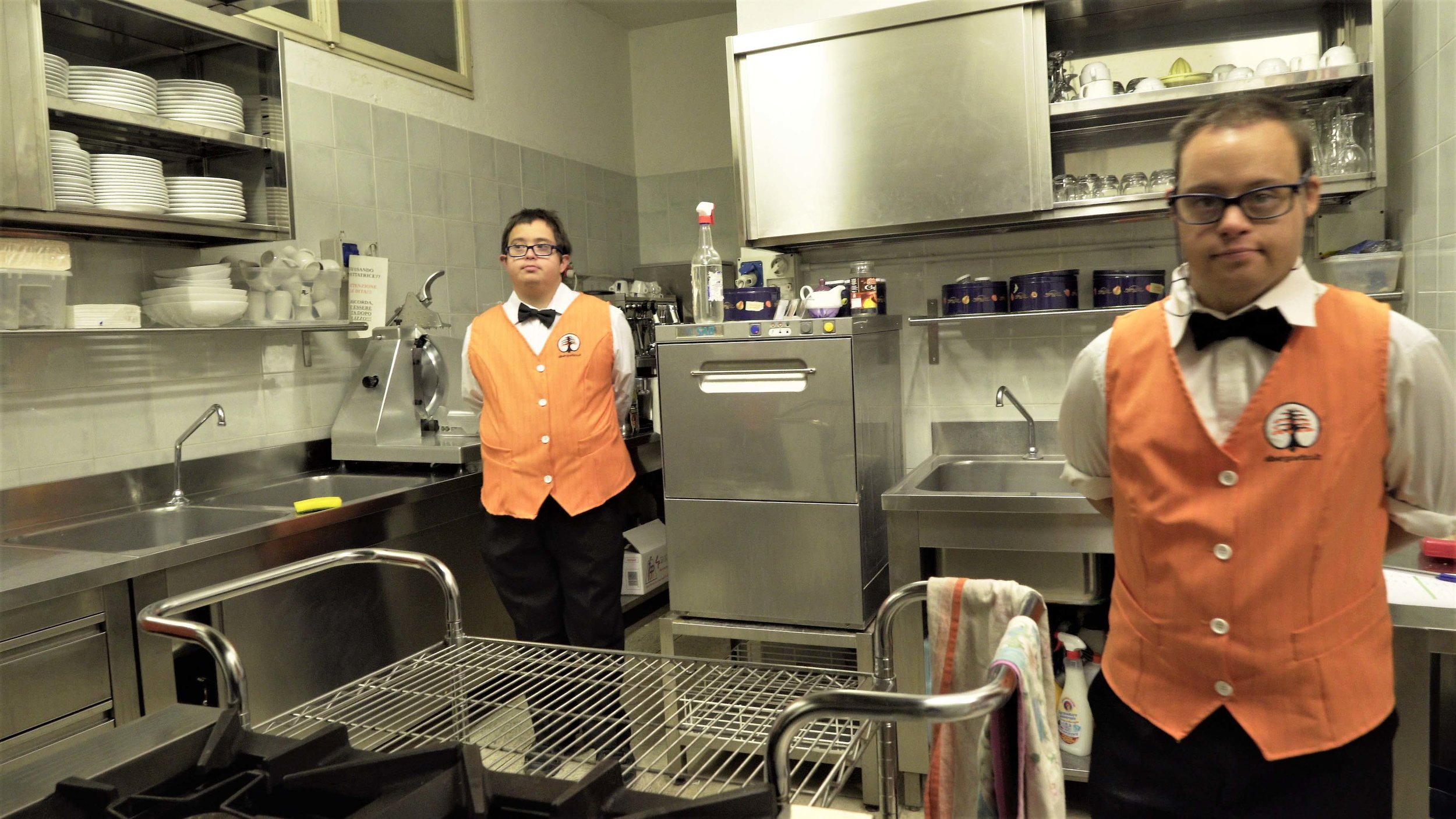Mirko Piras & Antonio Mozzo staff at the Albergo Etico Asti, Italy