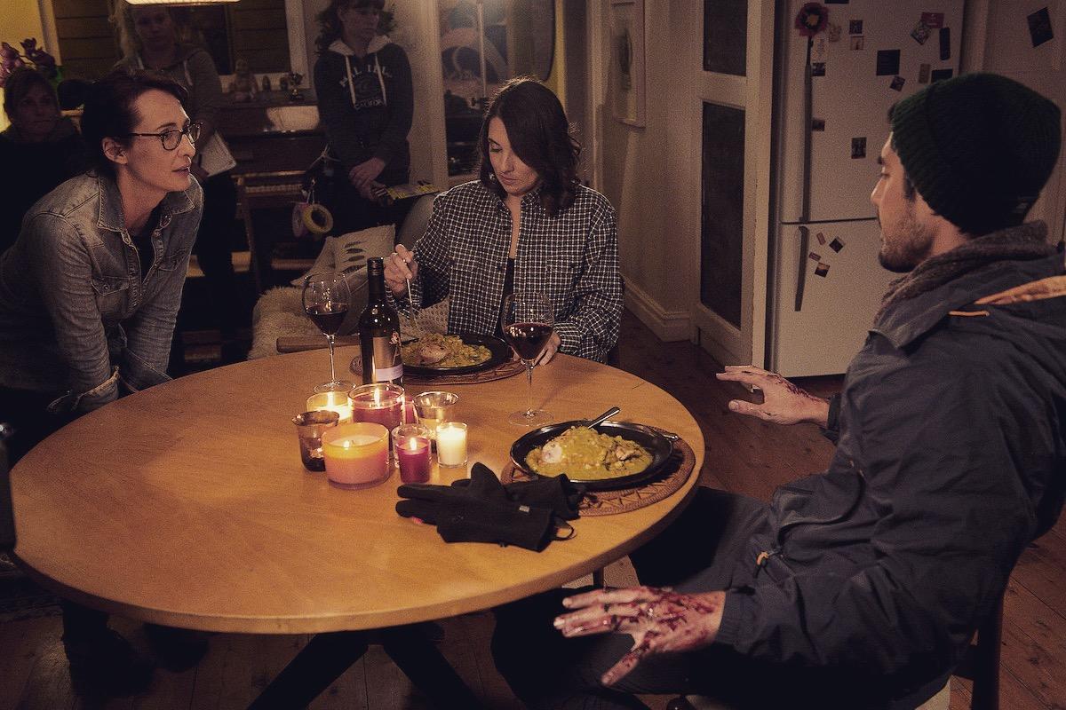 Alyson Standen On Set Directing Gemma Yates-Round and Tai Hara