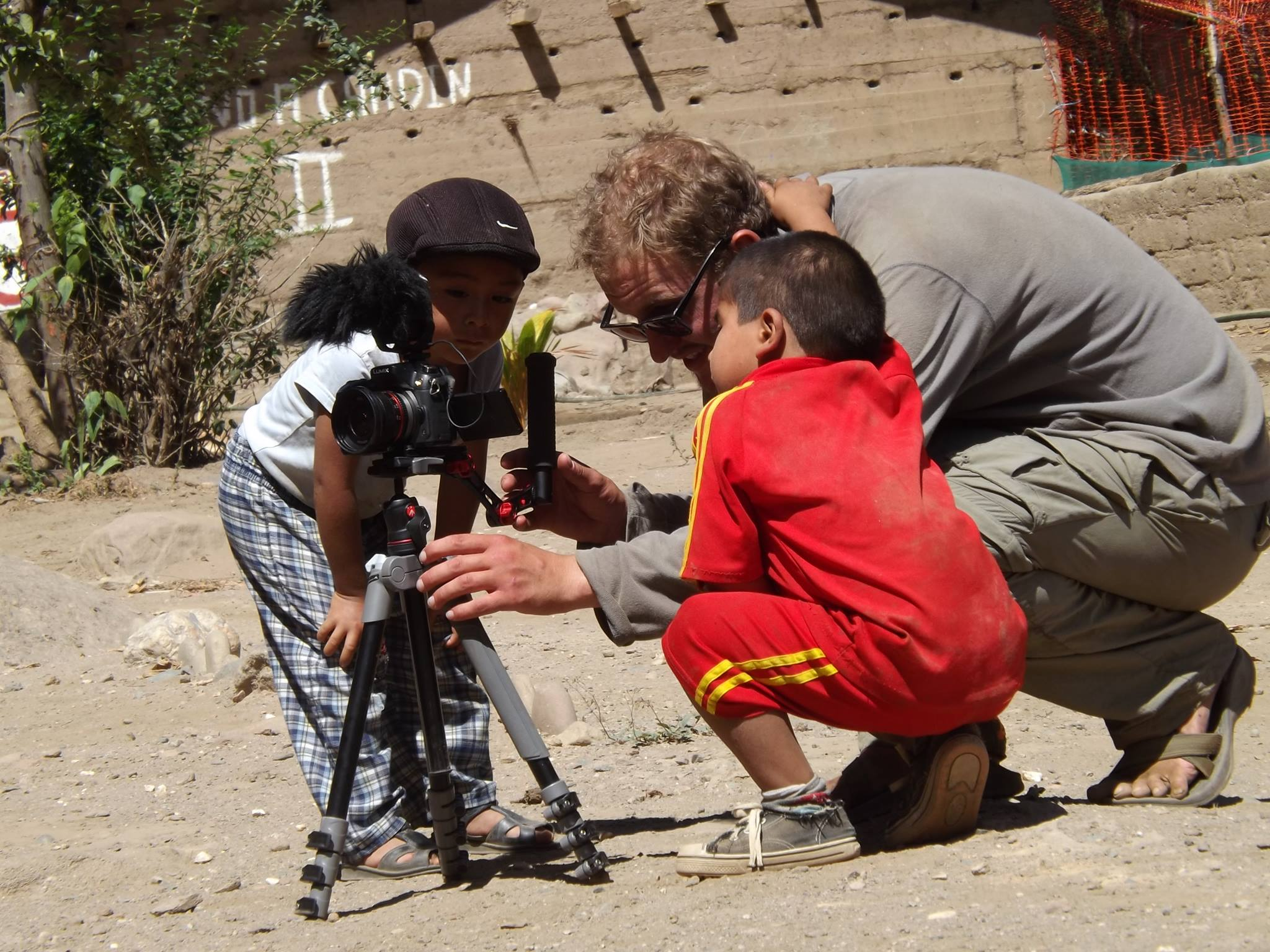 Local creatives help director Henry Worobec get the shot in the village of Tupen Grande.