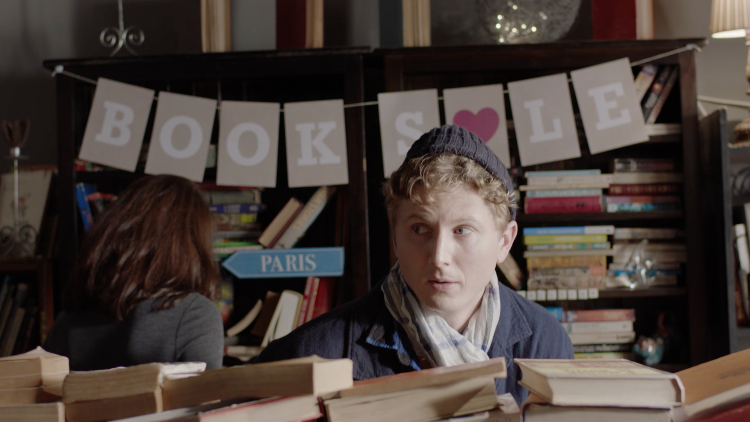 Donald (Alastair Osment) on the lookout for Abbey in The Bookshop.