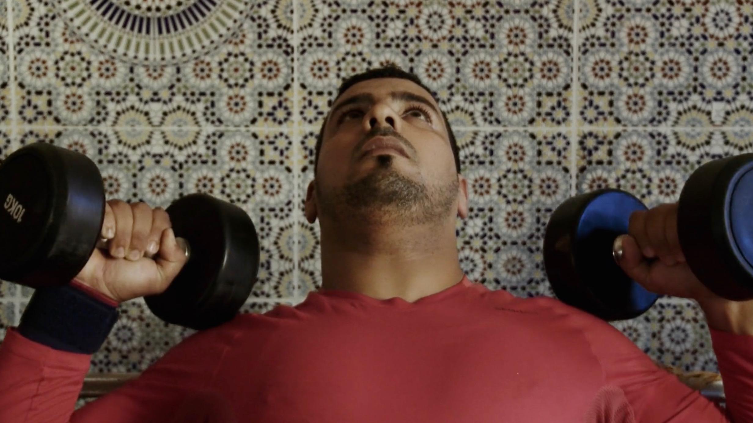 Azzedine training for the Rio Paralympics