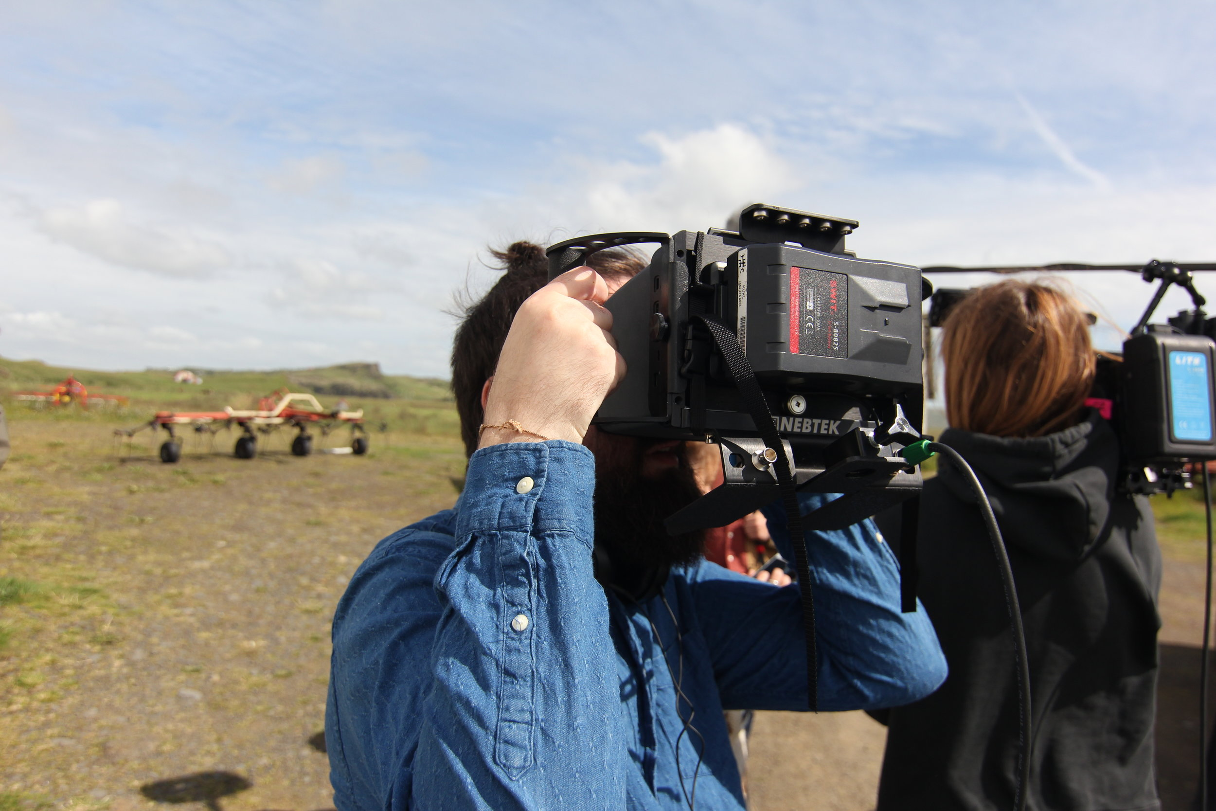 BTS: Brúsi and Magga Vala, the director of photography, working as one.