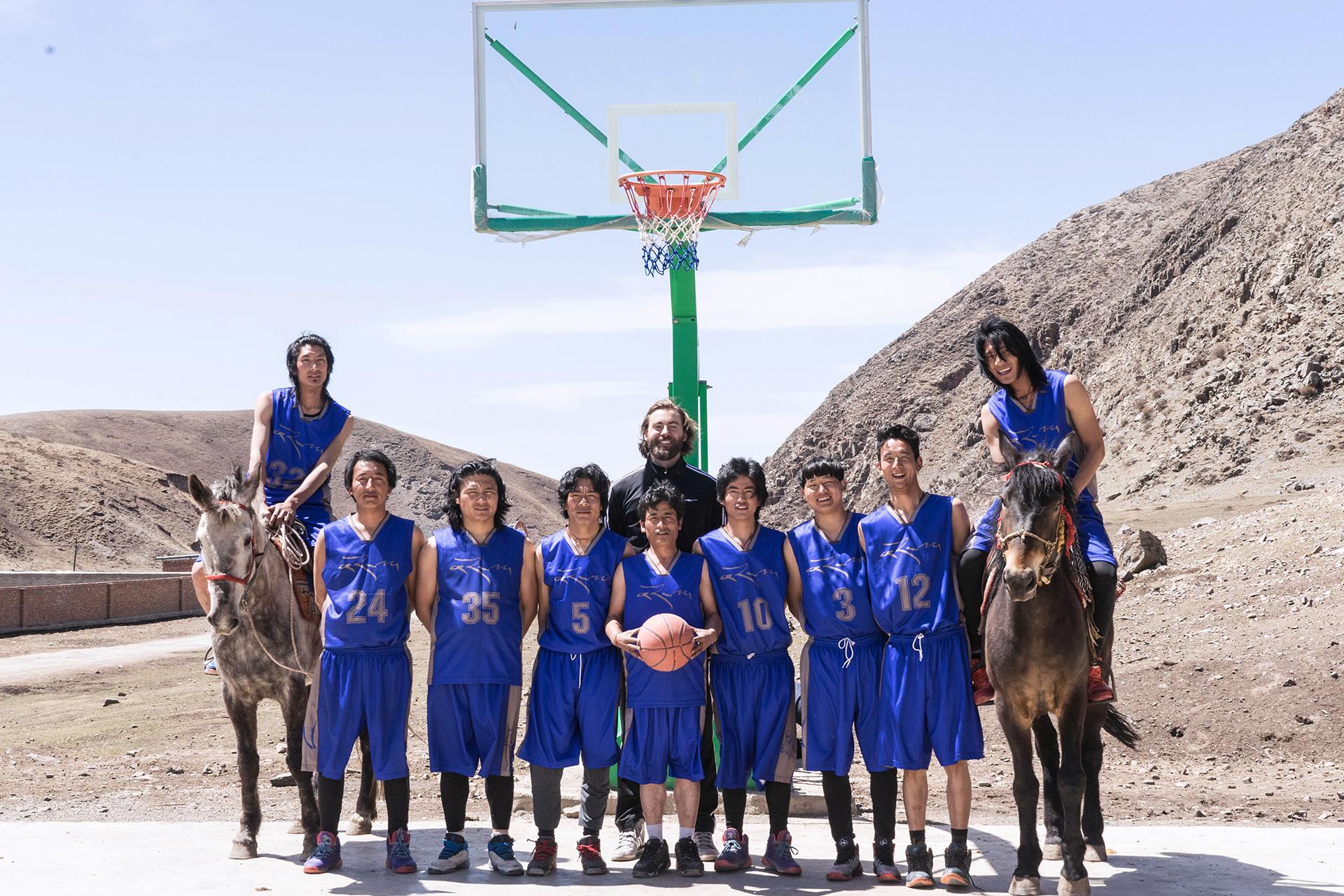 Norlha Men's Basketball Team on Horses