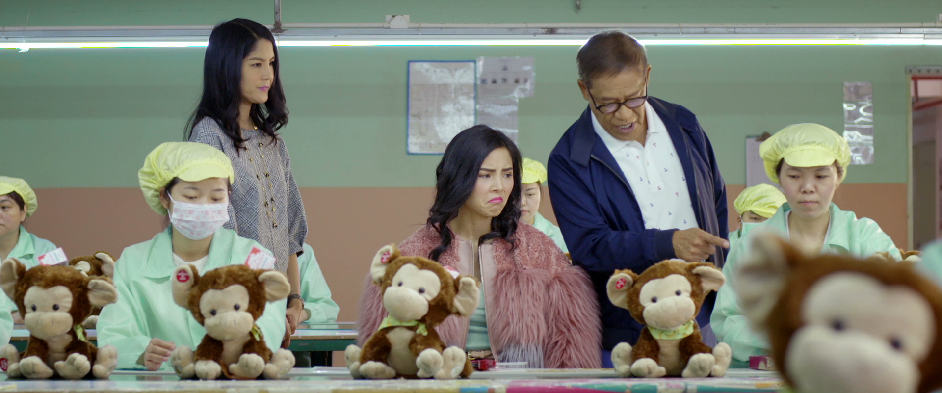 Lynn Chen, Anna Akana, and Richard Ng in Go Back to China still