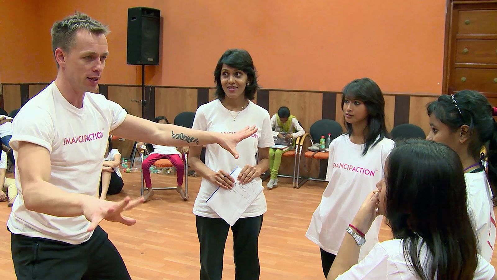 "Tadej teaching in India ""dance language"""
