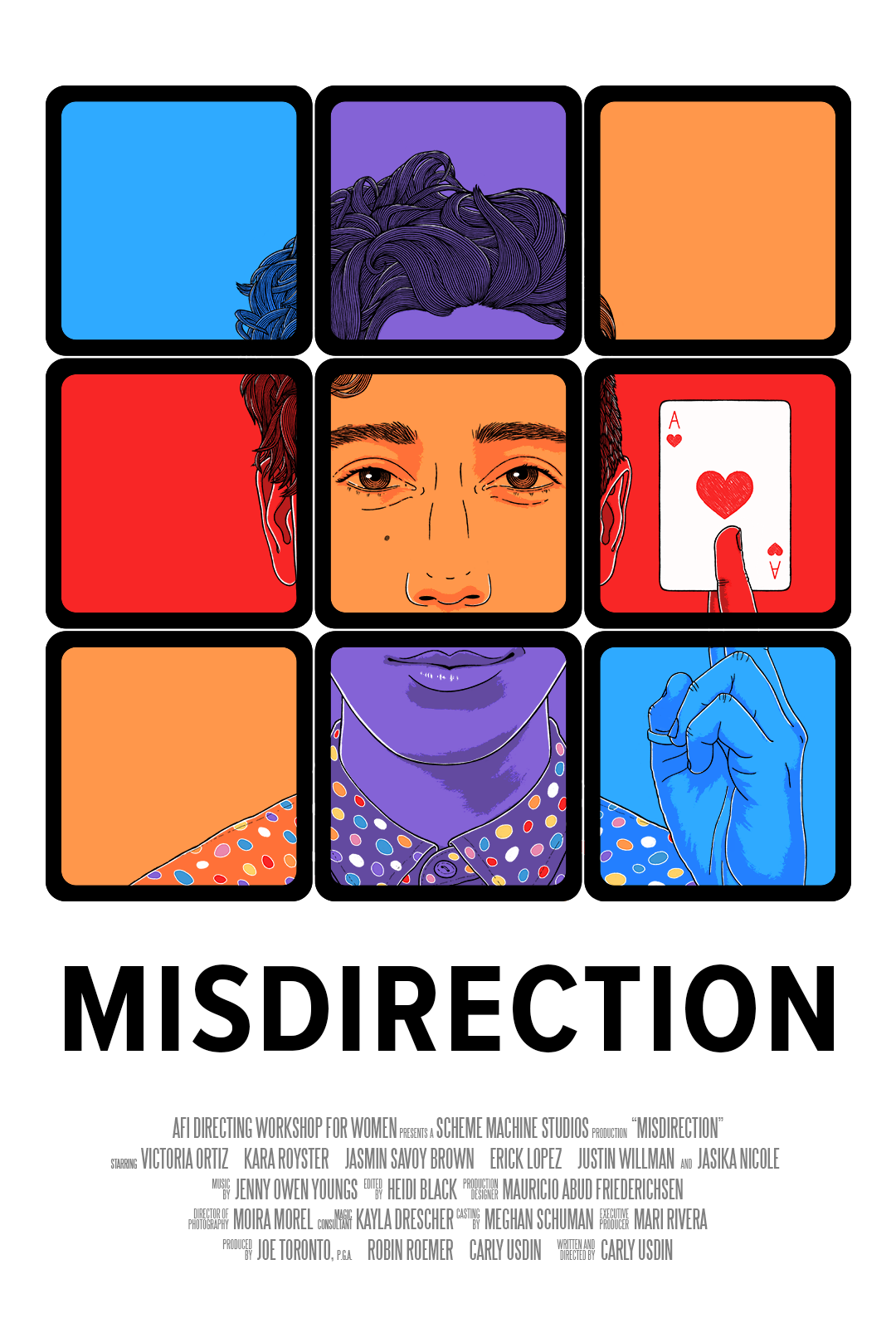 Misdirection poster (illustrated and designed by Kristine Thune (kristinethune.com))