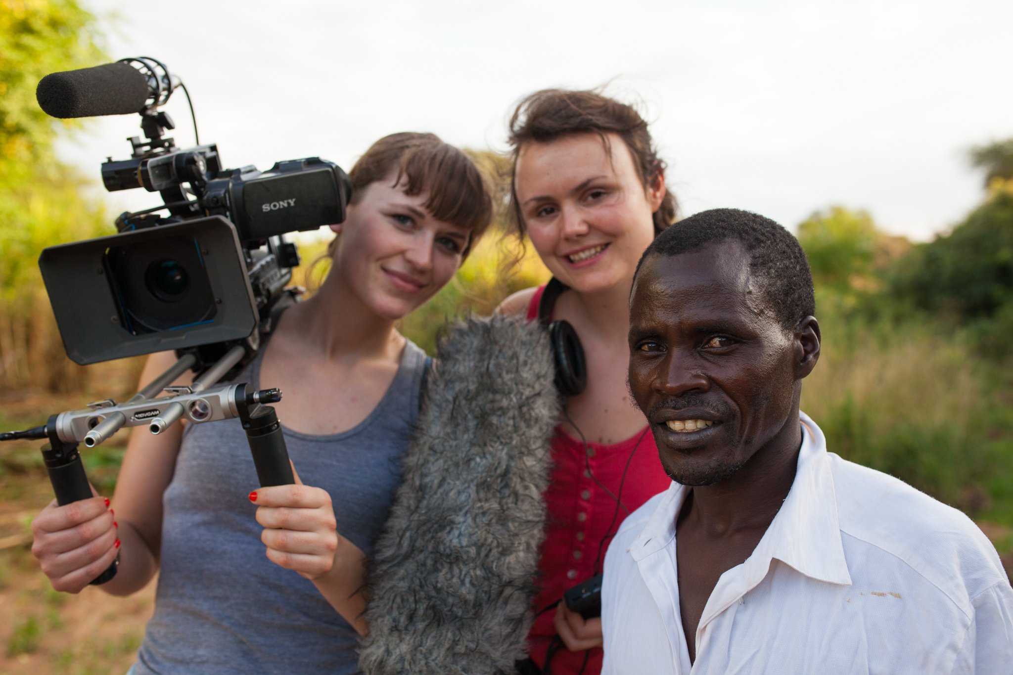 Kisilu Musya with director Julia Dahr and DOP Julie Lunde Lillesæter