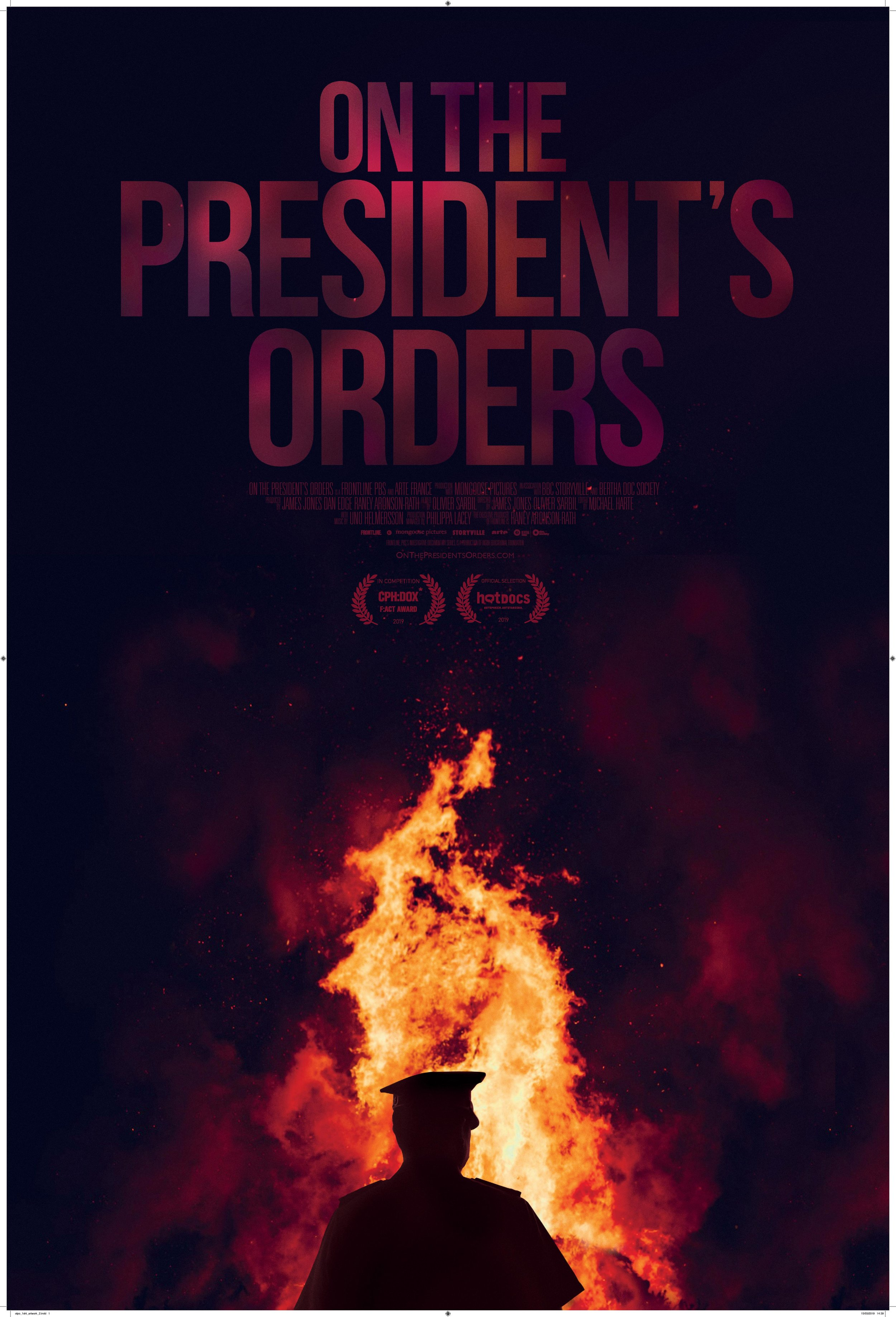 On The President's Orders poster