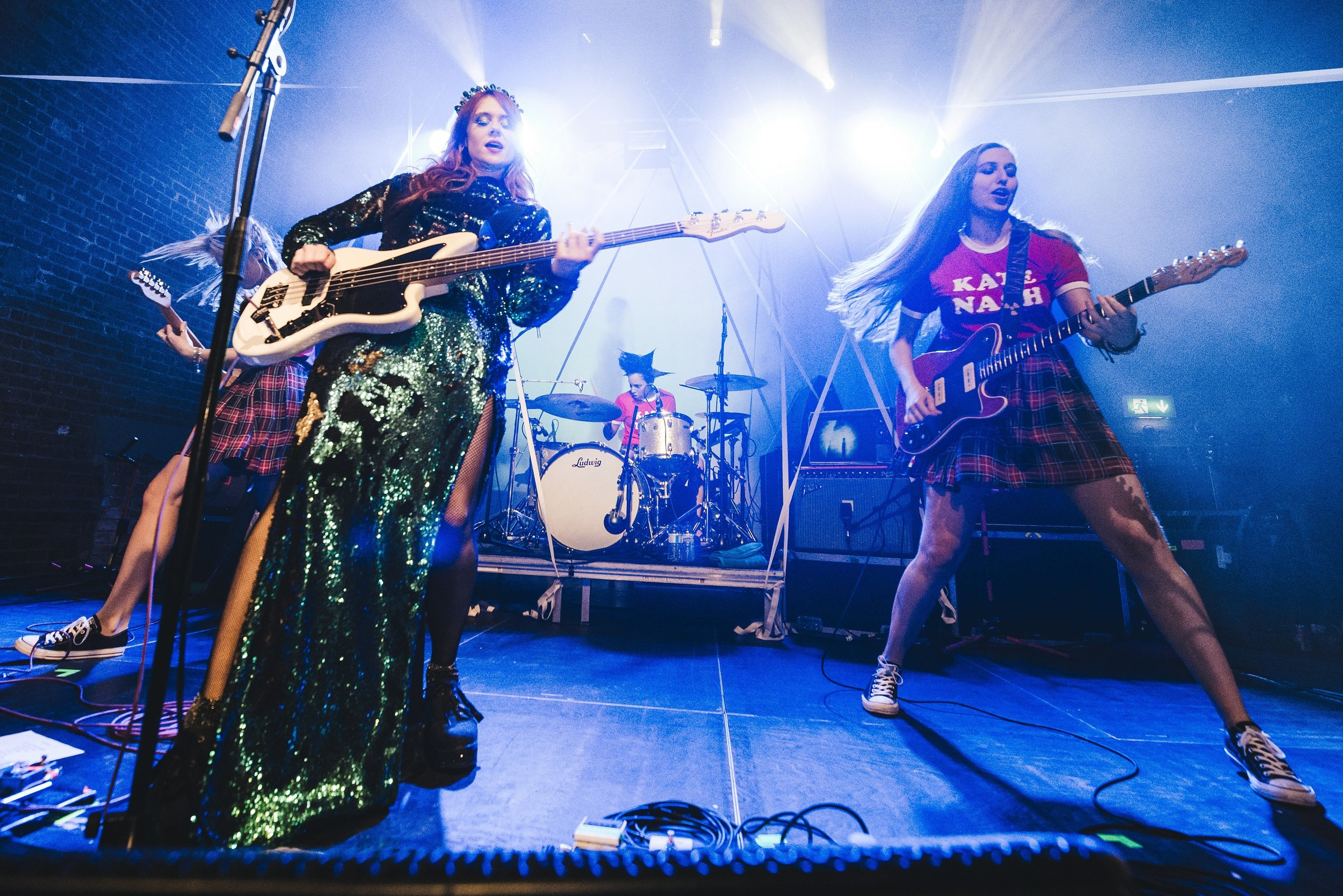 Kate Nash performing with her all-girl band