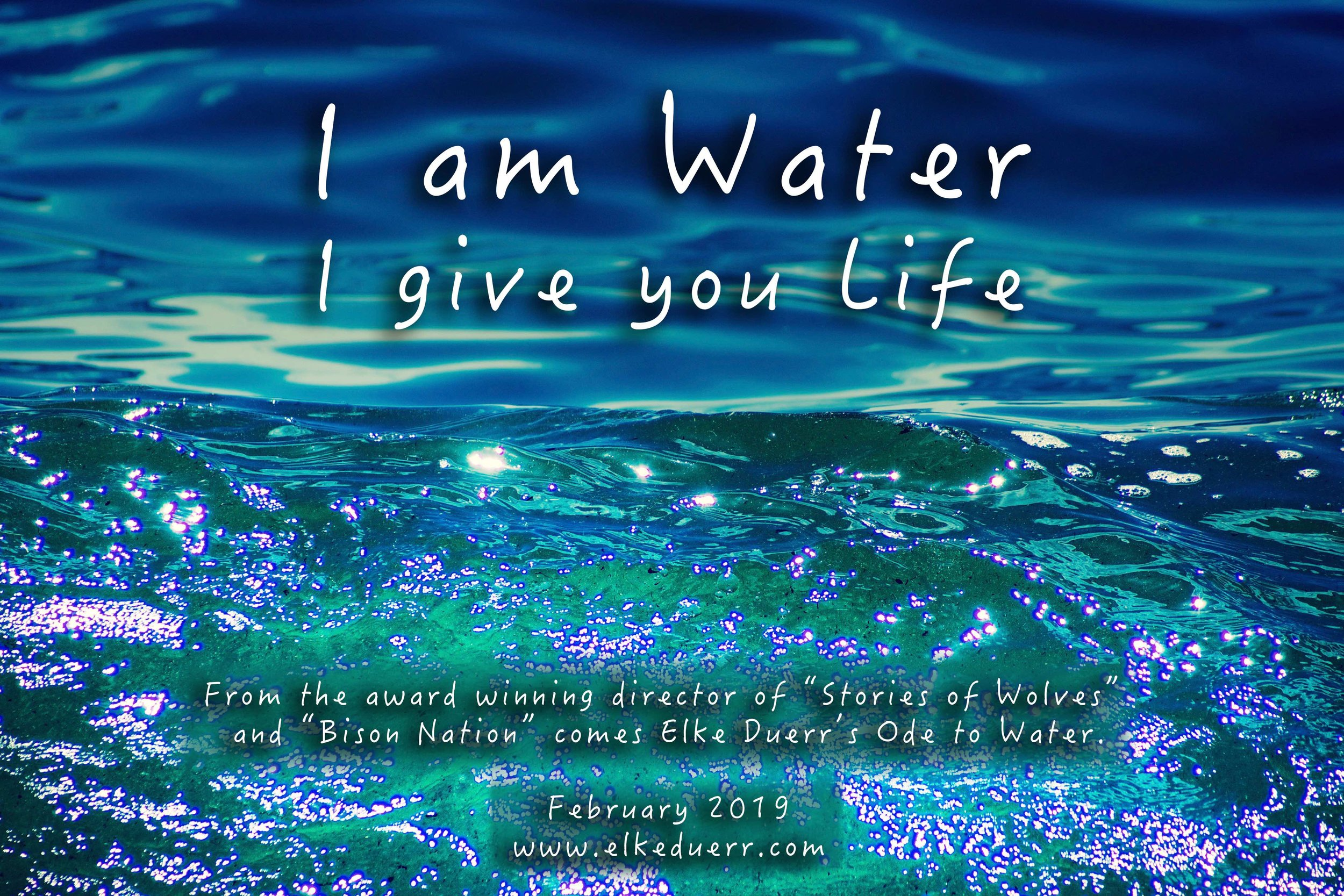 I am Water - I give you Life poster