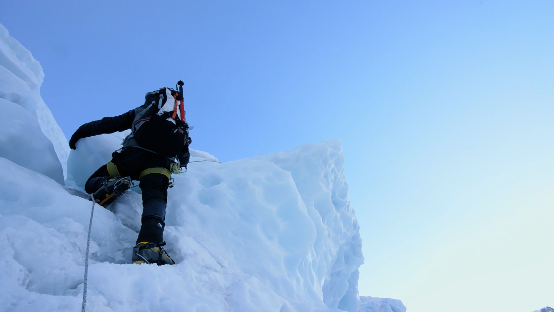 Jim Geiger in the Khumbu Icefall