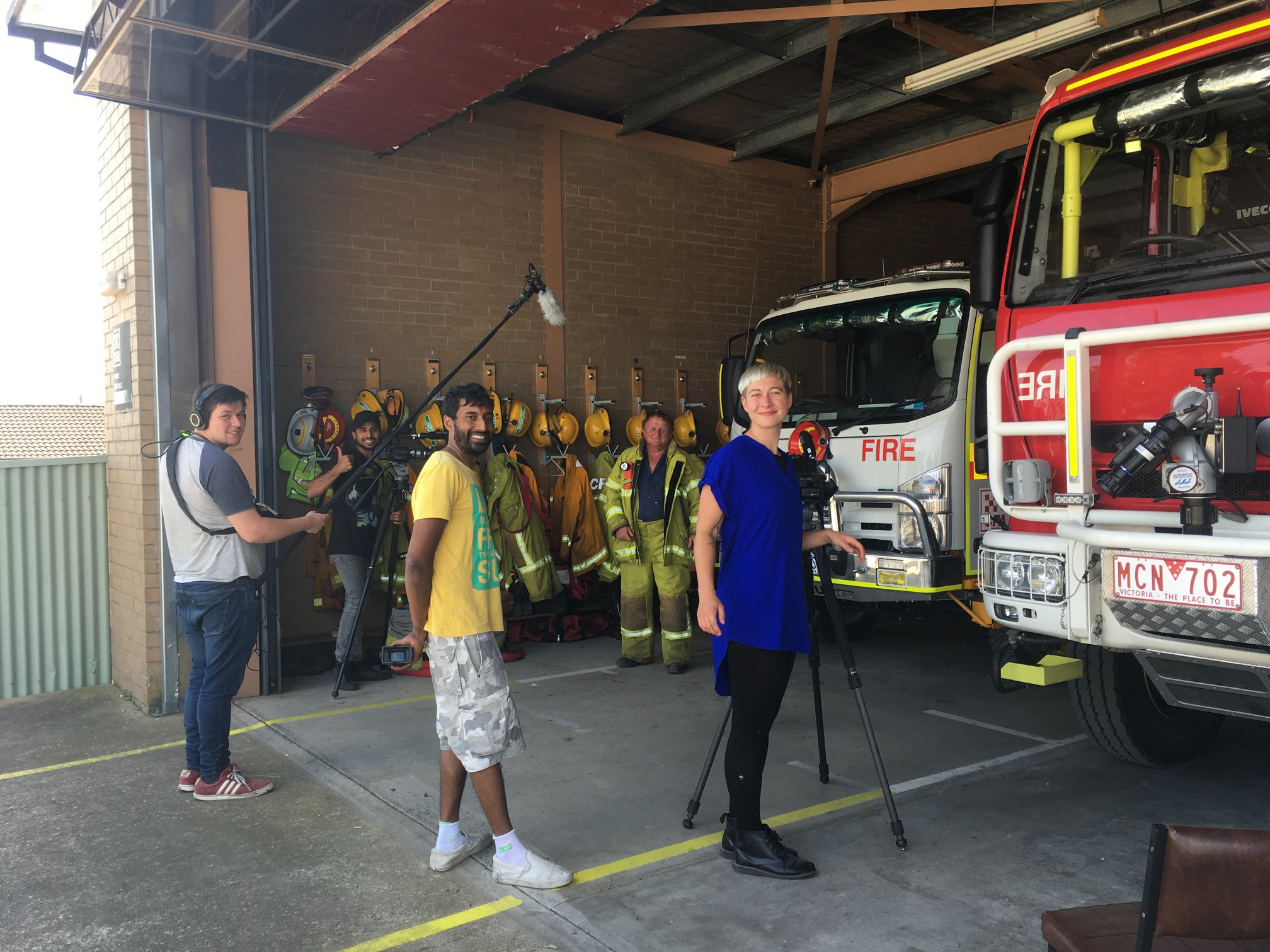 The crew with Orbost CFA