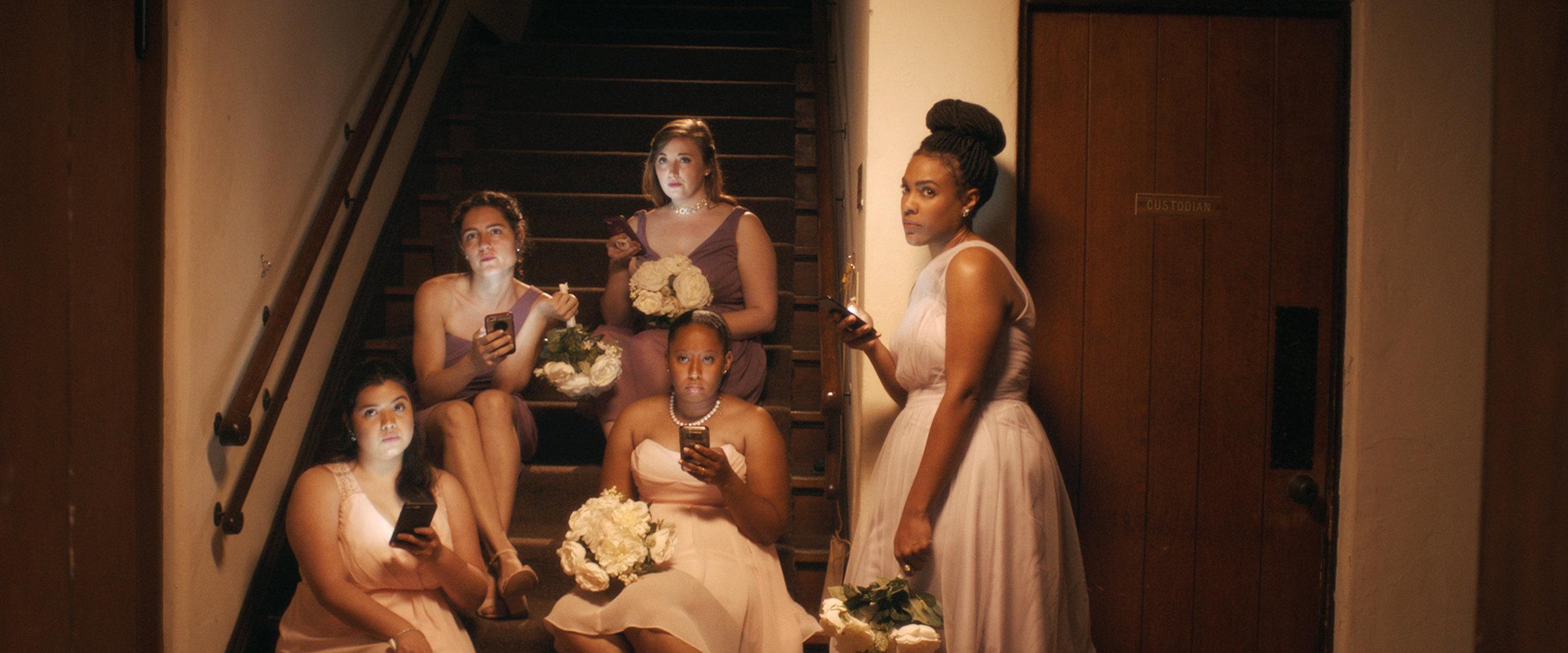 A Greek chorus of bridesmaids
