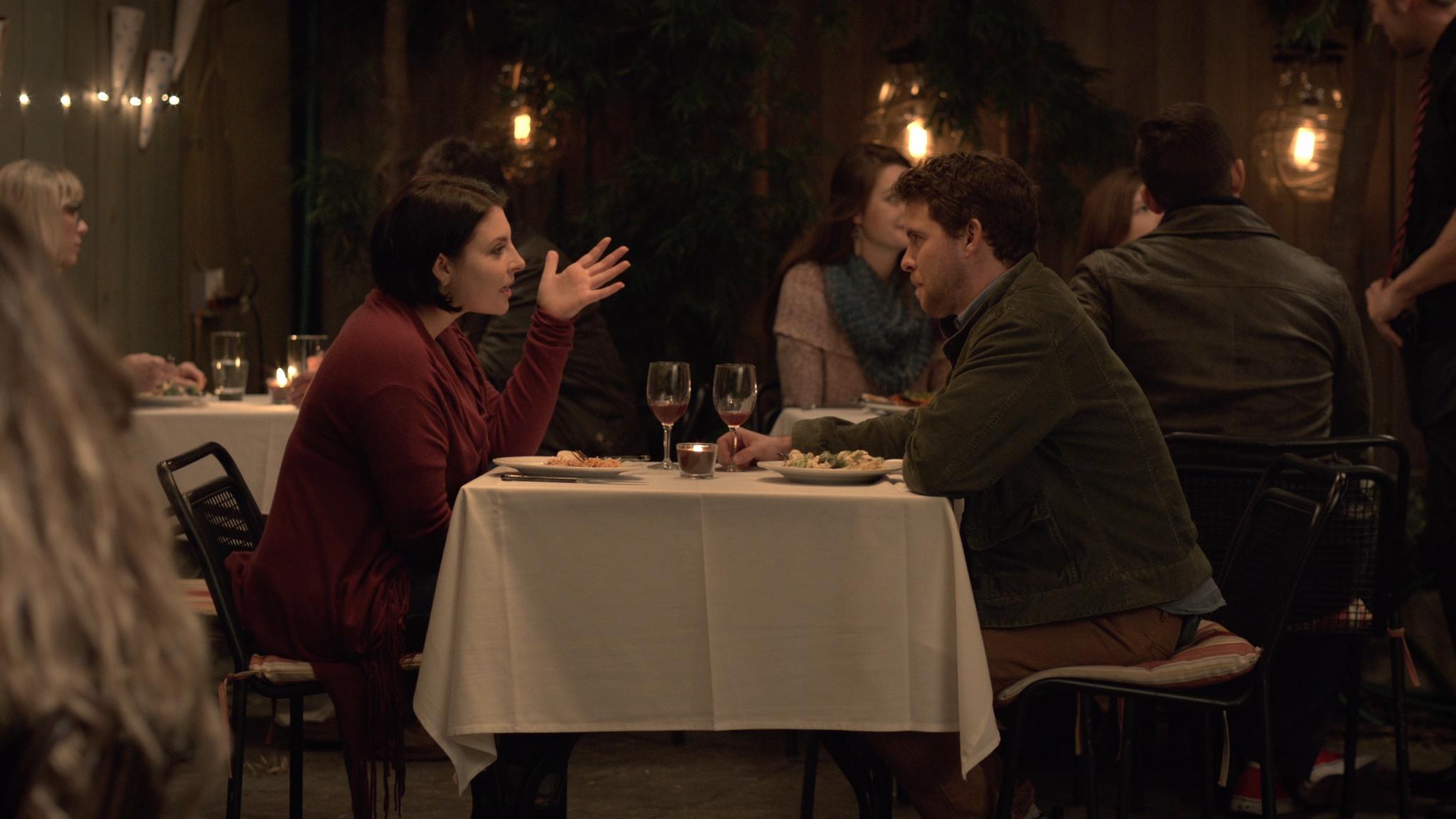 Restaurant scene of Sam and Ben's date