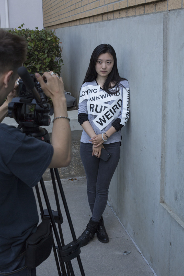 Qingge Gao performs a key scene as Alayna, the film's female lead - Photo: Keith Battista