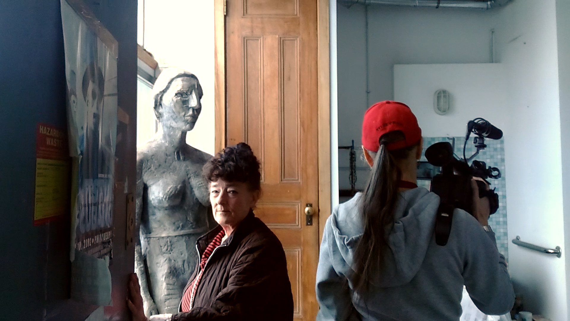 Director, Tyler A. Chase with sculptor, Deborah Masters