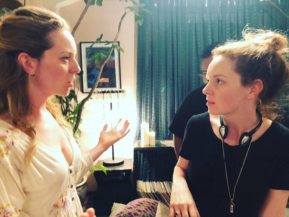 Behind the scenes (The Dahl sisters)