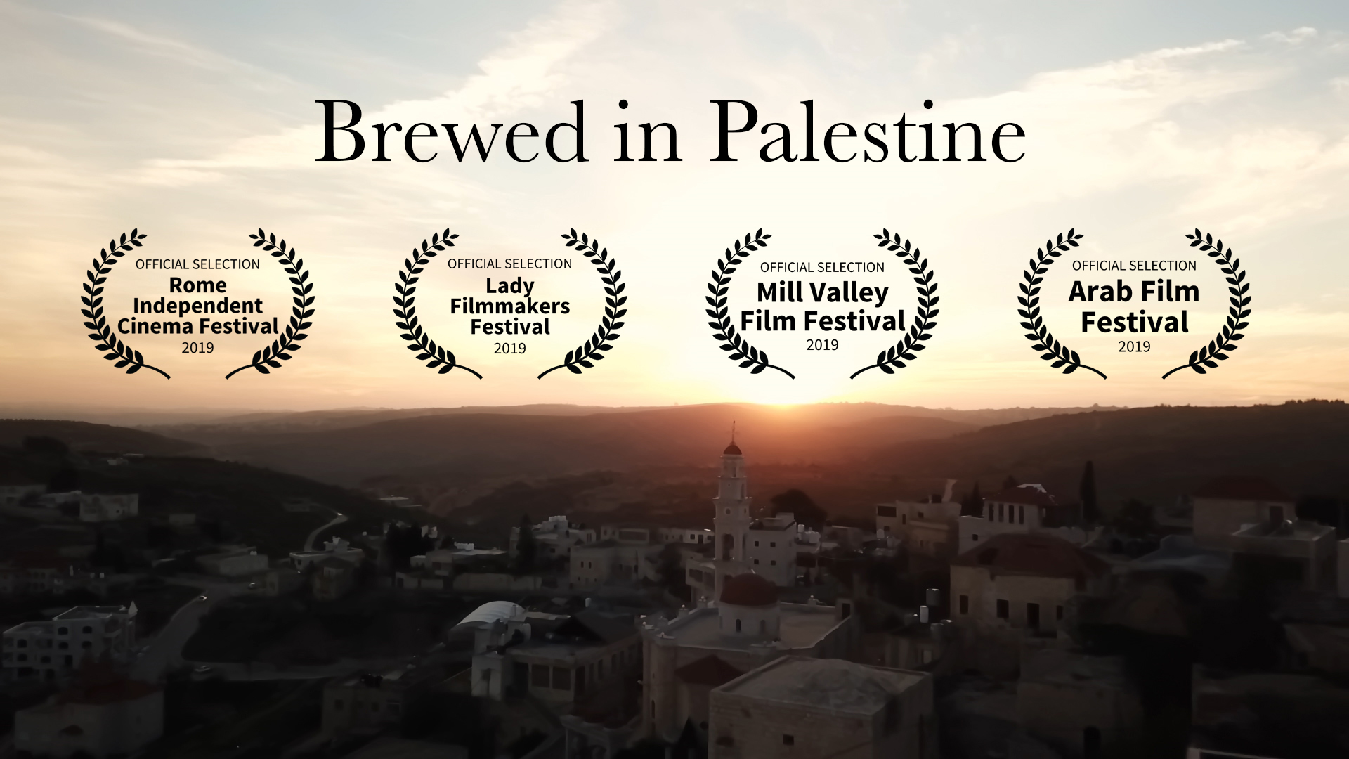Brewed in Palestine poster