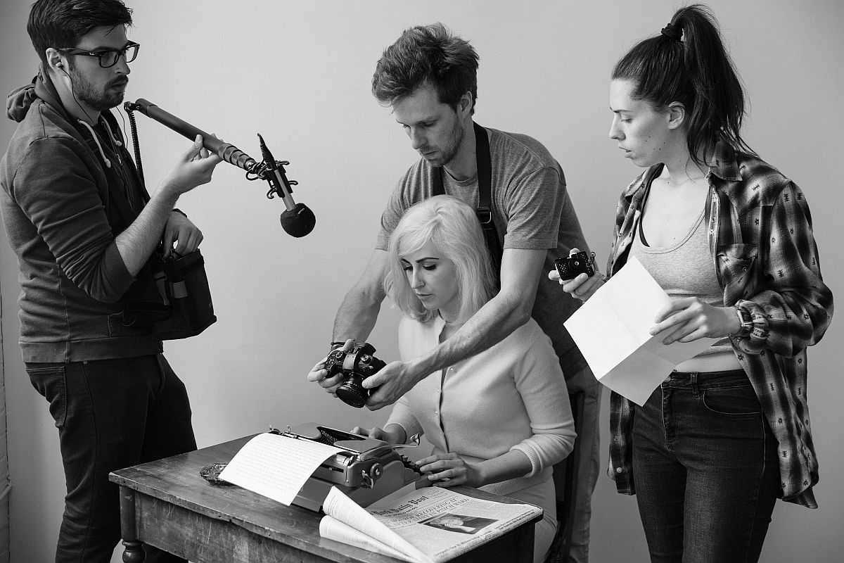 Behind the scenes of Misfit M. - George Petrovic (Sound), Austin Ball and Sarah Hempinstall (Directors)