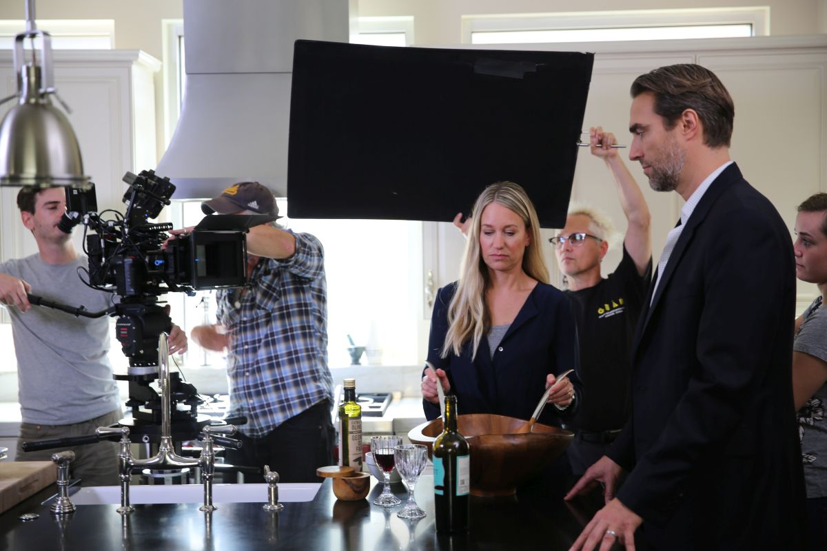 Behind the scenes of Guest of Honor - Prepping to shoot kitchen scene