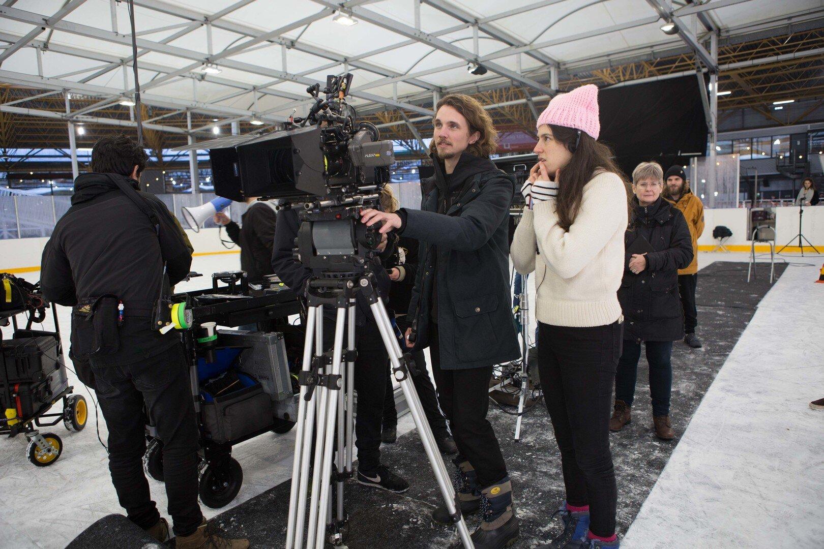 Behind the scenes of Thin Ice - Joosje Duk (director) and Roy van Egmond (cinematographer)