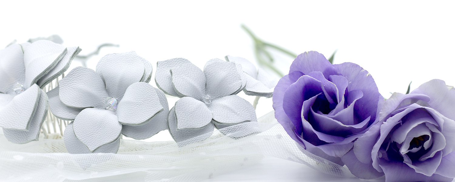 millinery banner_white leather headband with purple flowers.jpg