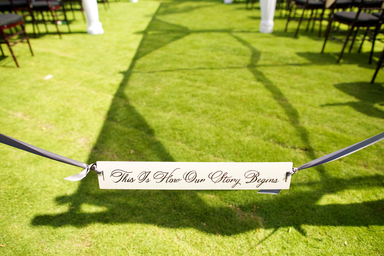 Maui wedding aisle sign by Bliss Wedding Design