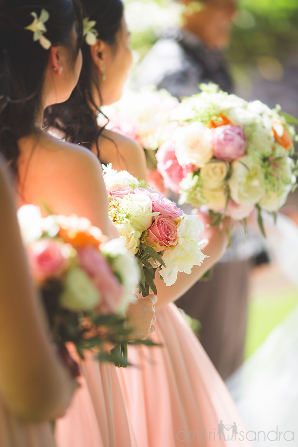 Soft pink bridesmaids bouquets by Bliss Wedding Design - photo by Dmitri & Sandra