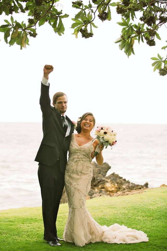 hawaii wedding ceremony cheer