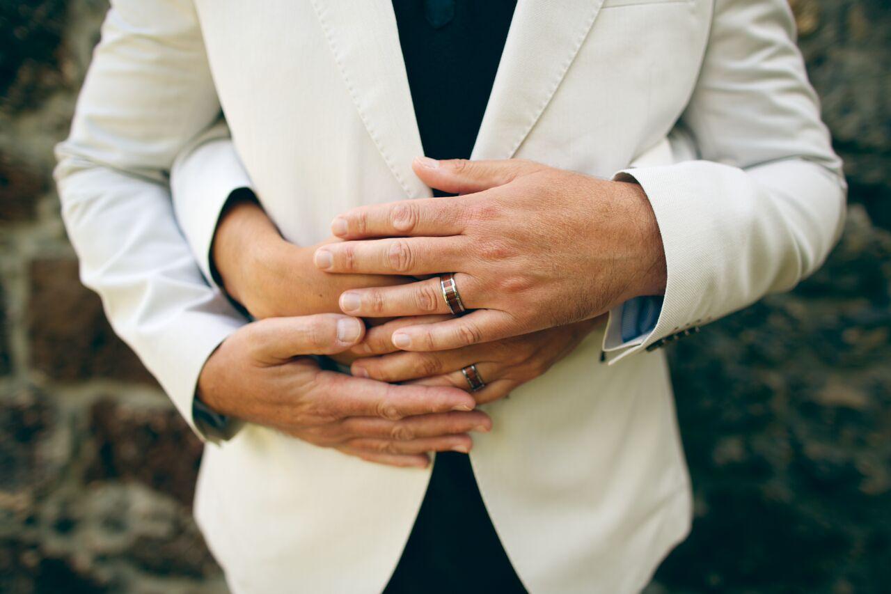 gay maui wedding rings