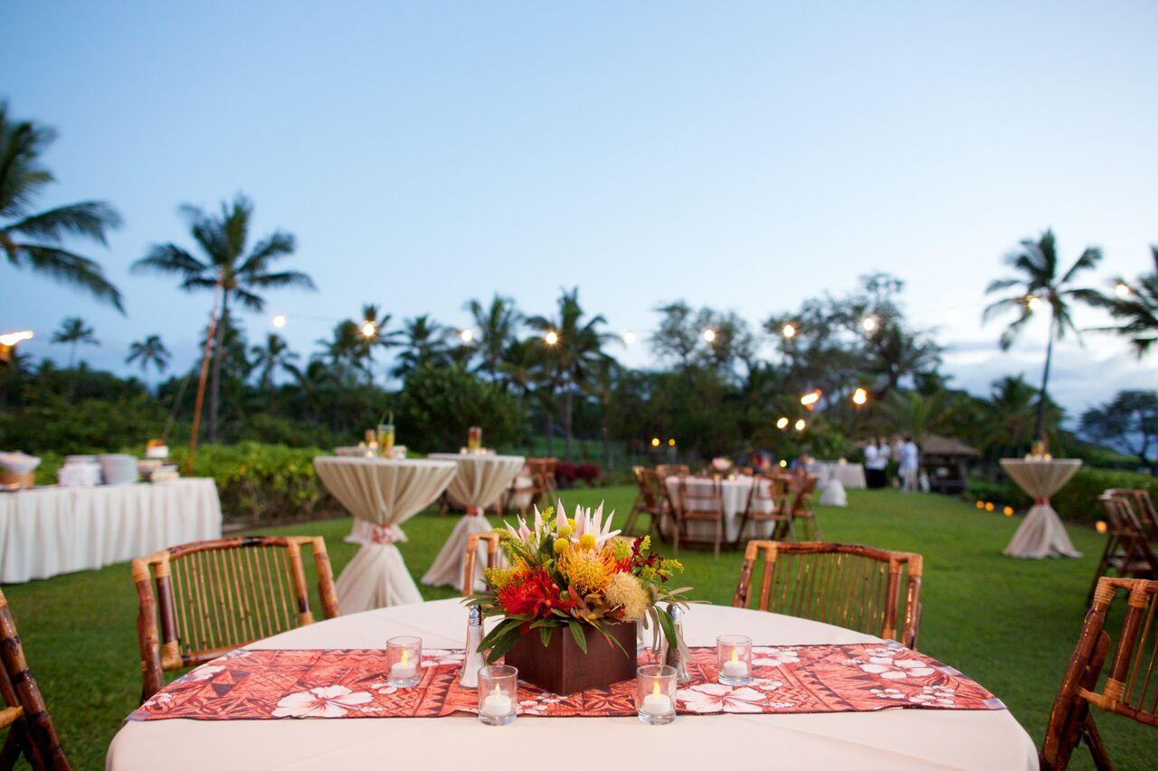 Maui wedding reception at Makena Beach and Golf Resort