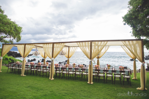 Luxury outdoor dining on Maui Hawaii