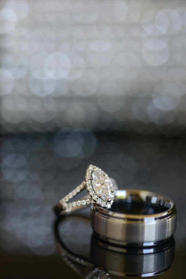wedding and engagement ring