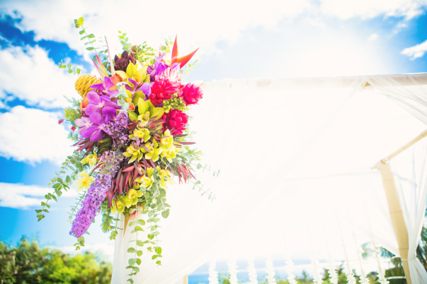 Colorful Island Outdoor Wedding by Bliss