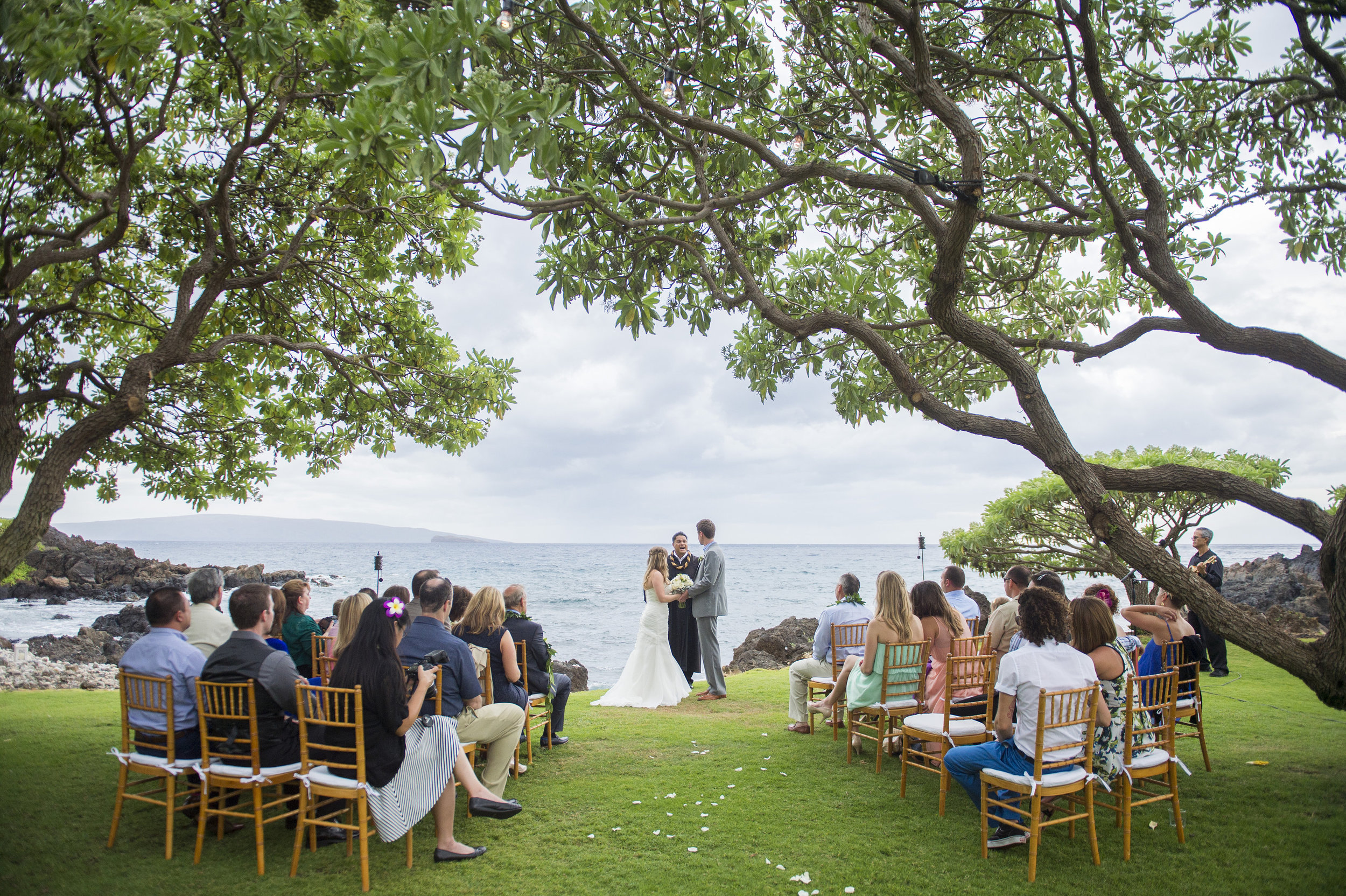 Outdoor Oceanfront Wedding