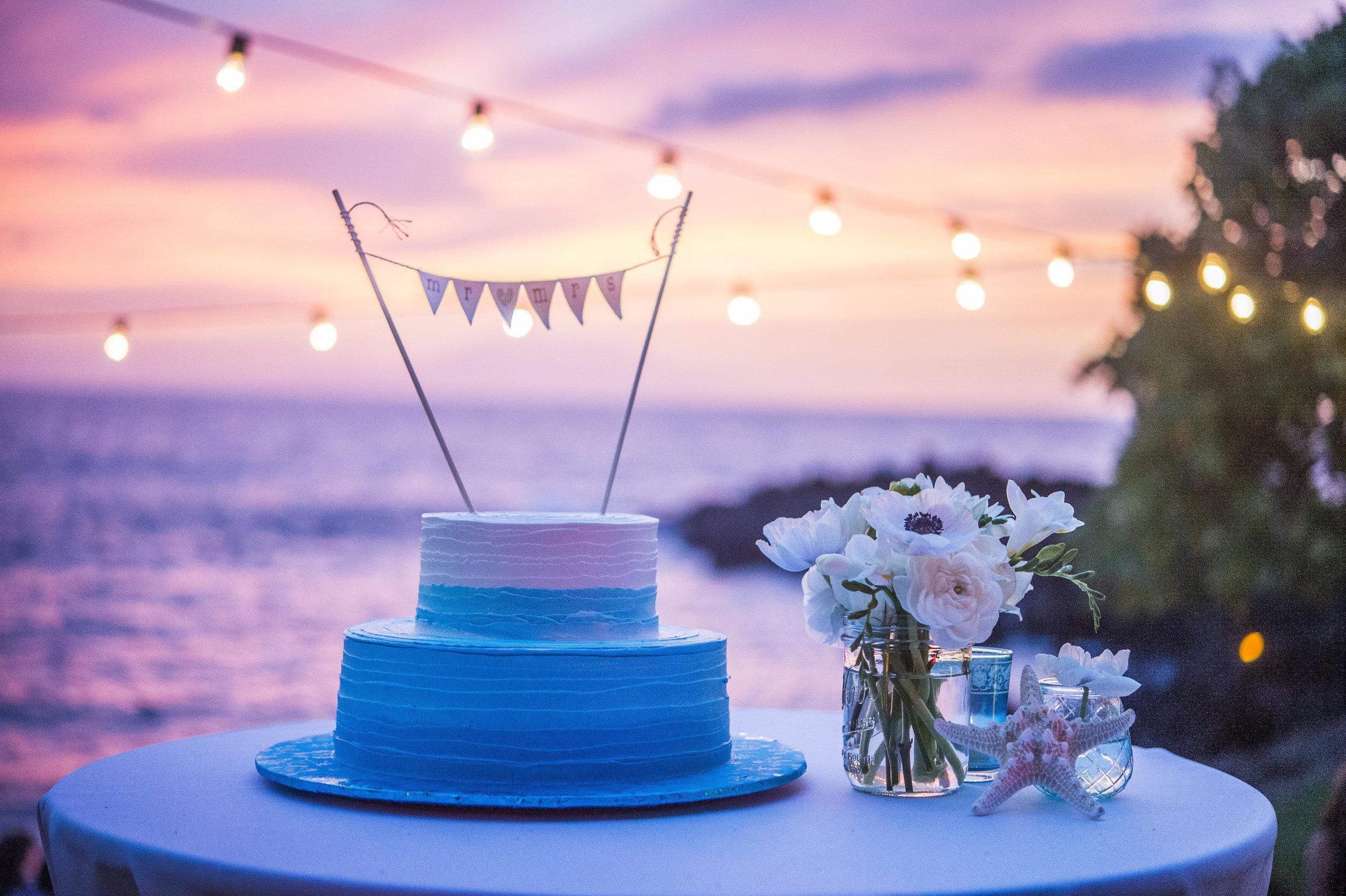 wedding cake with ocean inspiration
