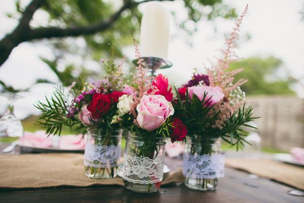 Wedding Mason Jar Flower Vases