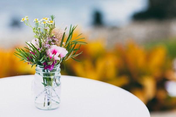 Mason Jar Wedding Flower Vase