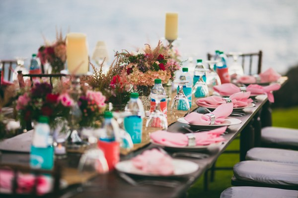 Pink Wedding Table Decor