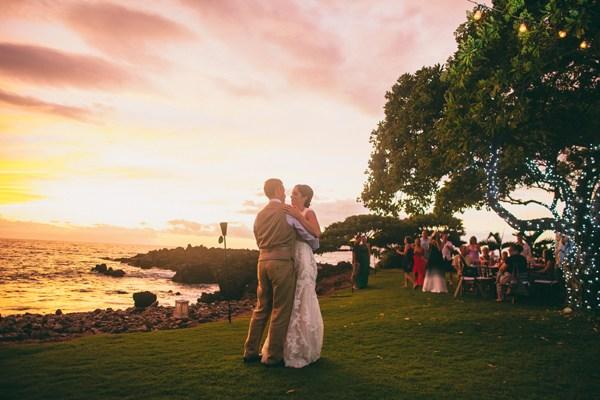 Maui Sunset Wedding First Dance