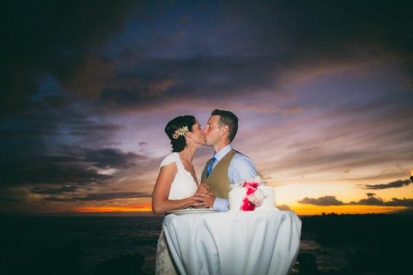 Maui Sunset Wedding Cake