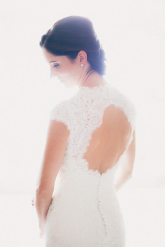 Open Back lace Wedding Dress