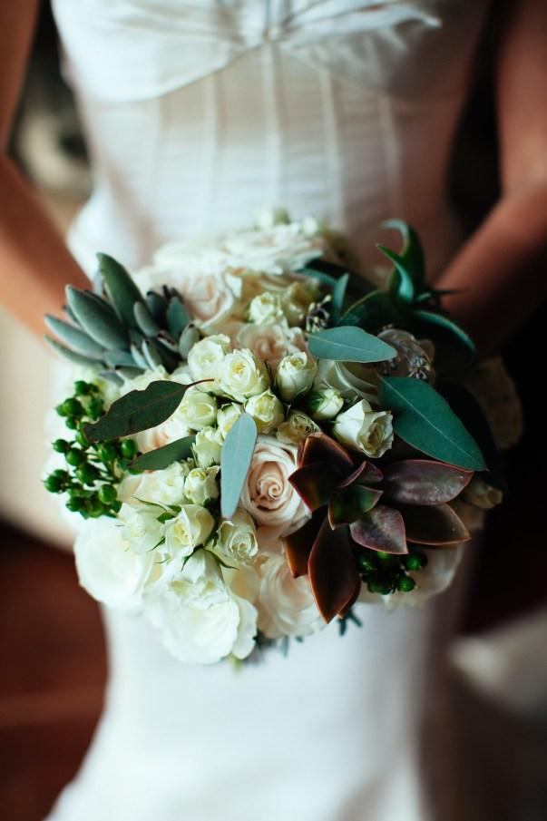succulent and floral bouquet by Petals