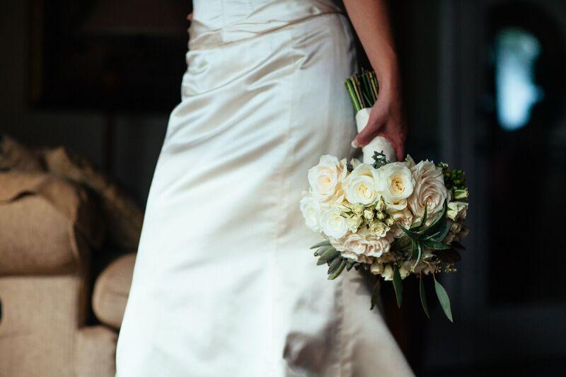 ivory bridal bouquet by Petals