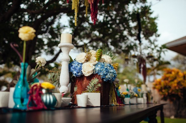 floral wedding table by Bliss