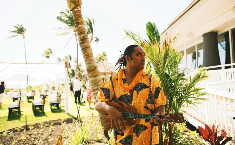 wedding ukulele performance