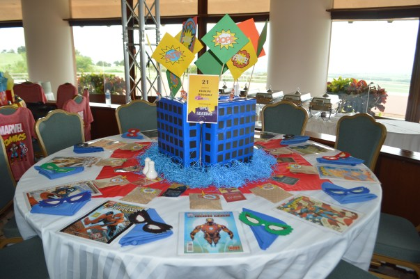 superhero table design